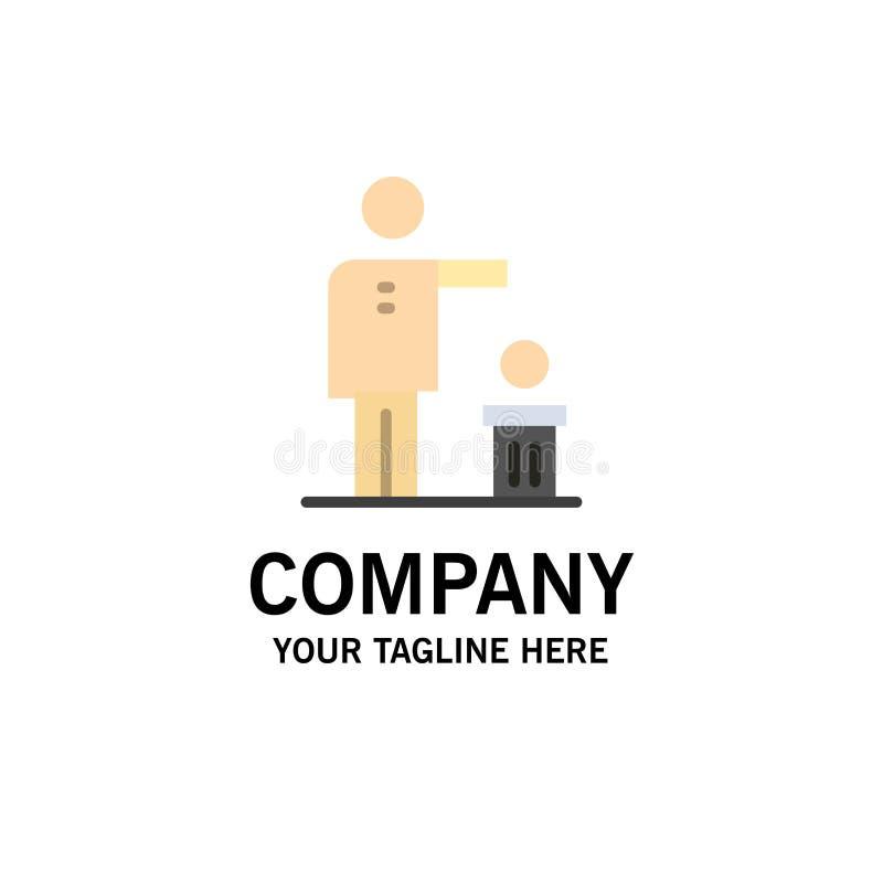 Malo, idea, ideas, reciclando, negocio pensado Logo Template color plano ilustración del vector