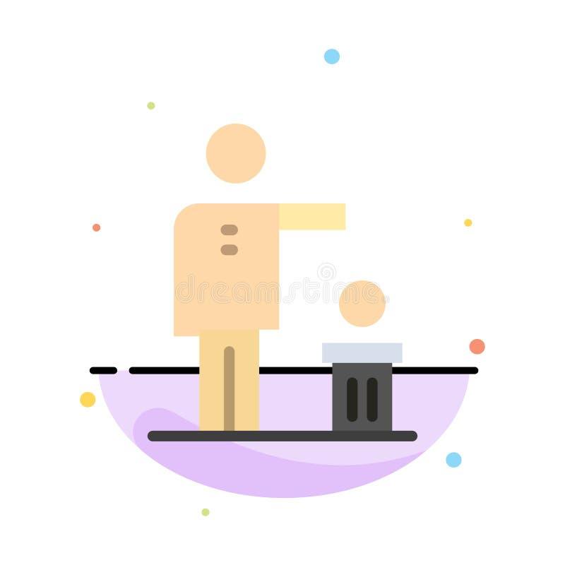 Malo, idea, ideas, reciclando, plantilla plana abstracta pensada del icono del color libre illustration
