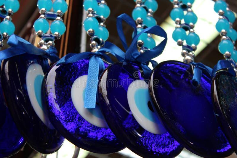 Malocchi, occhi azzurri degli amuleti fotografie stock libere da diritti