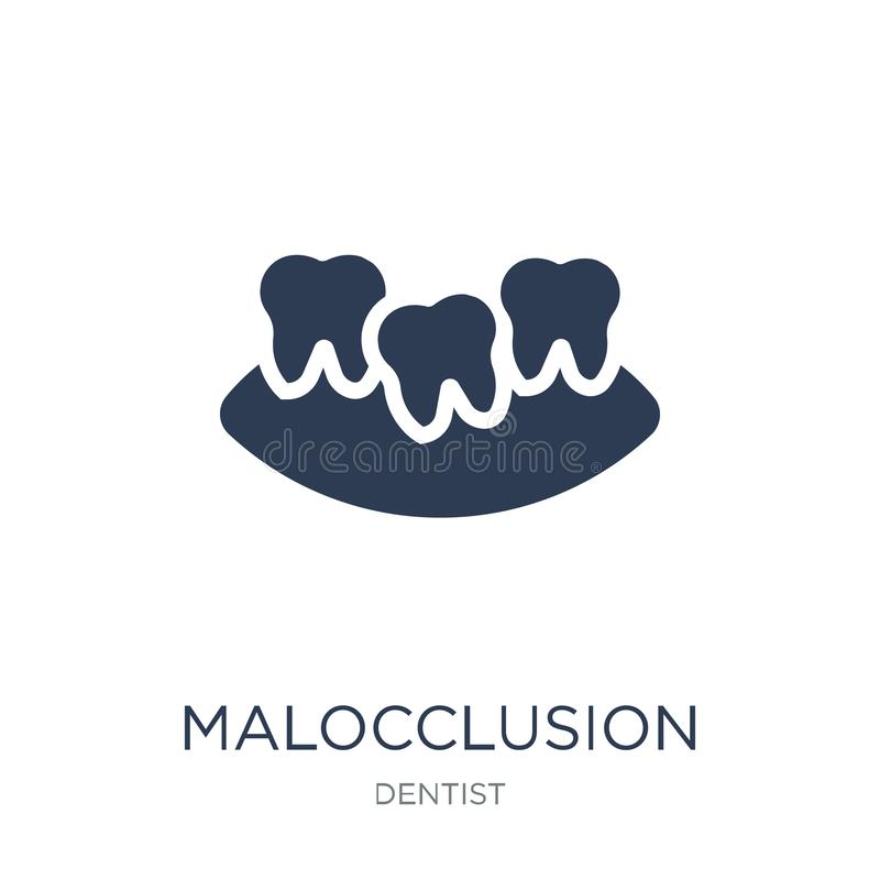 Malocclusion icon. Trendy flat vector Malocclusion icon on white. Background from Dentist collection, vector illustration can be use for web and mobile, eps10 royalty free illustration