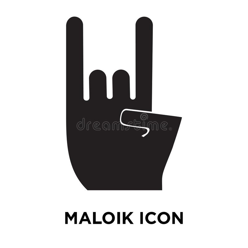 Maloik icon vector isolated on white background, logo concept of stock illustration