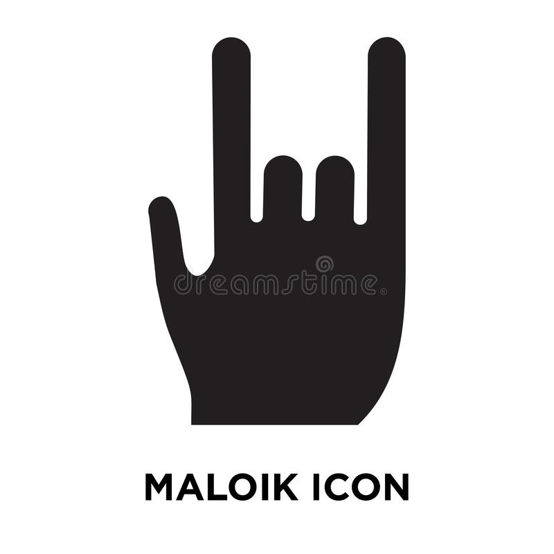 Maloik icon vector isolated on white background, logo concept of vector illustration