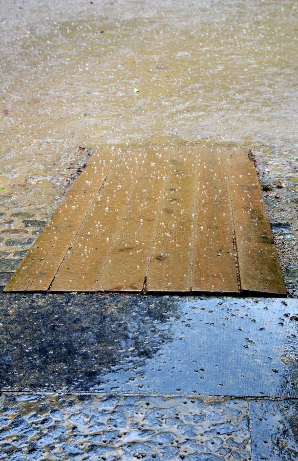 Malos tiempo y pantano lluviosos imagen de archivo