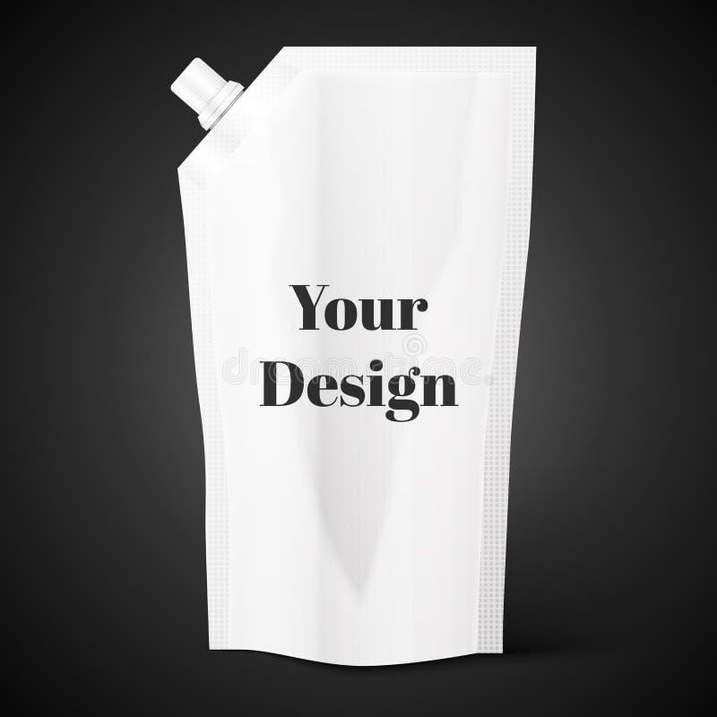 Malote vazio do bico, folha do saco ou empacotamento plástico ilustração do vetor