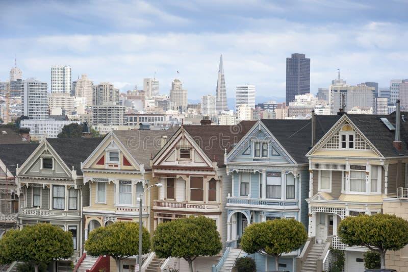 Malować damy w San Fransisco fotografia stock