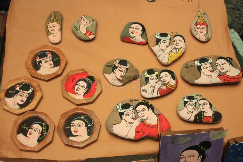 malować dla pamiątki w Thailand fotografia royalty free
