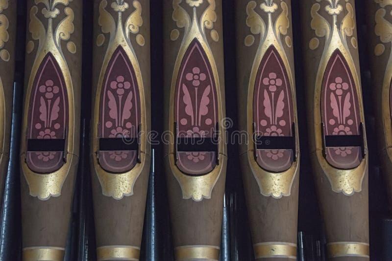 Malować drymby Speechley organ w kaplicie obrazy royalty free