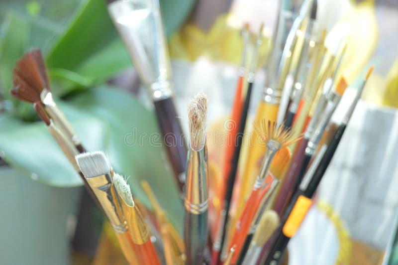 Malować muśnięcia fotografia stock