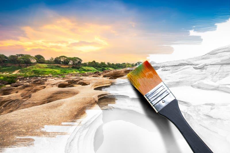 Malować naturalnego wizerunek zdjęcia stock