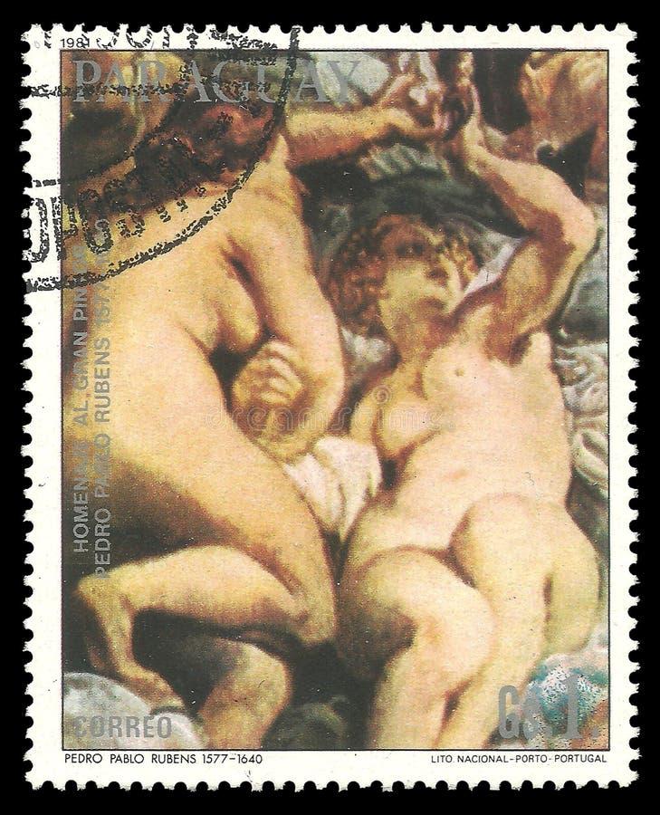Malować pary gracje Rubens zdjęcie stock