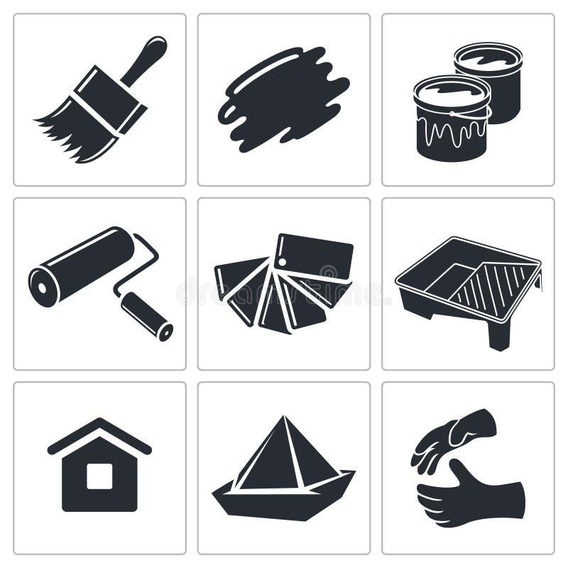 Download Malować Pracy Ikony Kolekcję Ilustracji - Ilustracja złożonej z wyznaczający, fence: 42525468