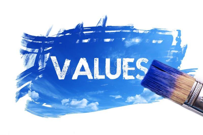 Malować wartości słowo royalty ilustracja
