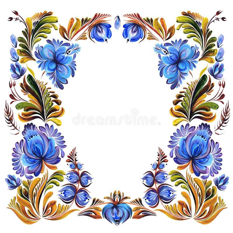 Malować z dekoracyjnymi kwiatami ilustracji