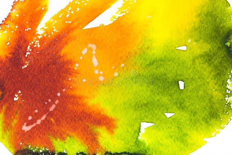 Malować z jaskrawą kolorową teksturą na bielu ilustracja wektor