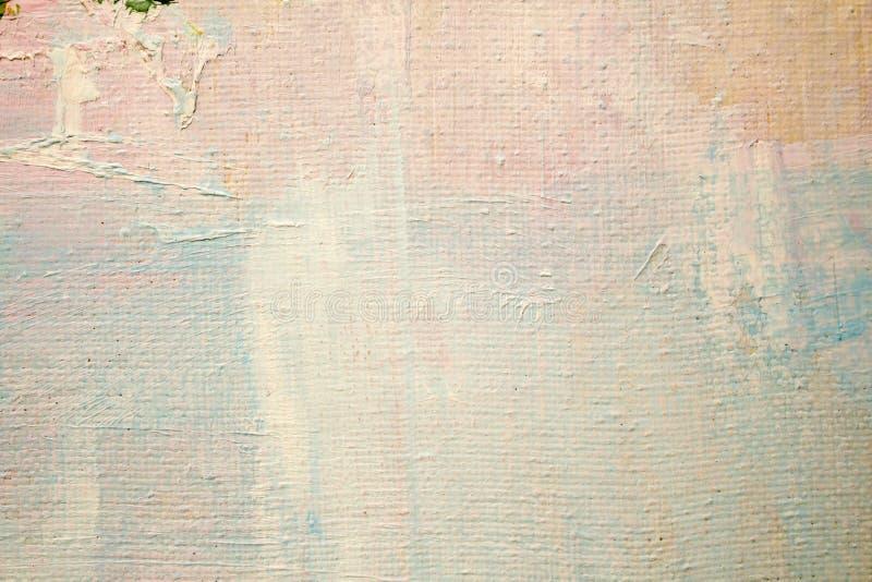 Malować z olejami na kanwie dla tła ważny uderzenie fotografia stock