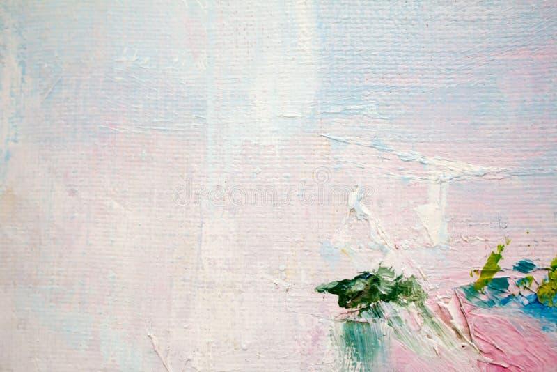 Malować z olejami na kanwie dla tła ważny uderzenie ilustracji