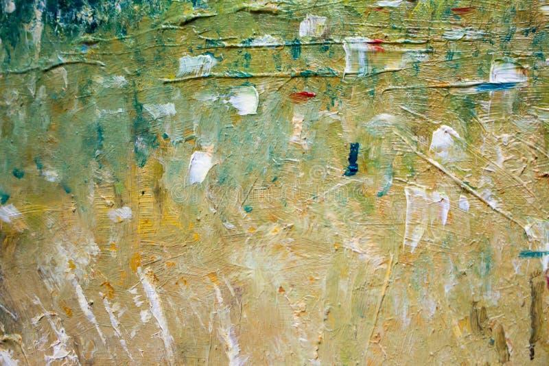 Malować z olejami na kanwie dla tła ważny uderzenie ilustracja wektor