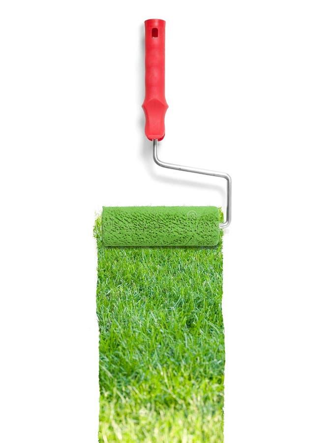 Malować z trawą fotografia stock