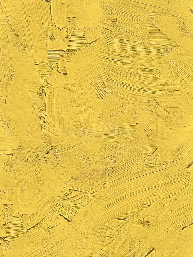 Malować zamknięty żywy pierwiosnkowy żółty pantone kolor up zdjęcie royalty free