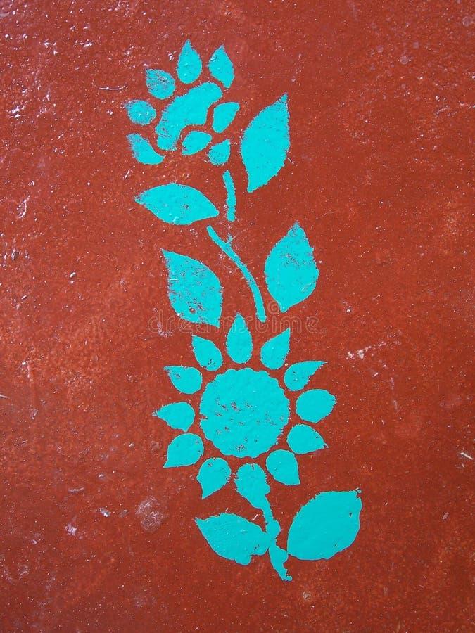 malowany kwiat zdjęcie royalty free