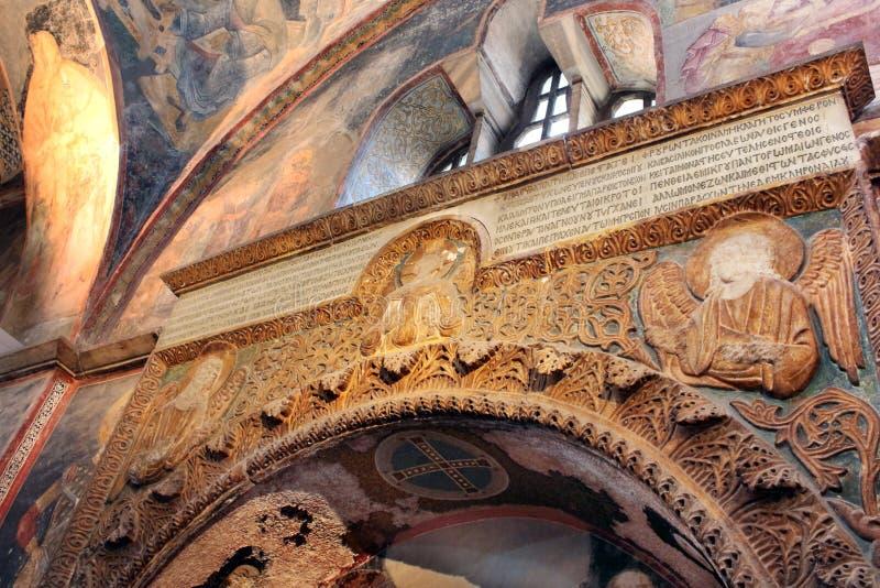 Malowidła ścienne pod kopułą w kościół Święty wybawiciel Na zewnątrz ścian obraz royalty free