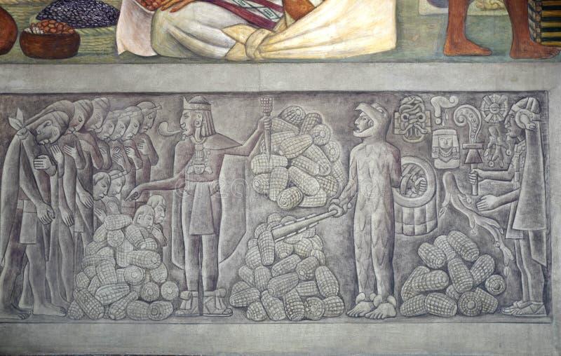 Malowidło ścienne Diego Rivera, Meksyk ilustracja wektor