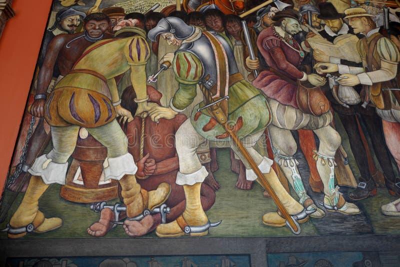 Malowidło ścienne Diego Rivera, Meksyk royalty ilustracja