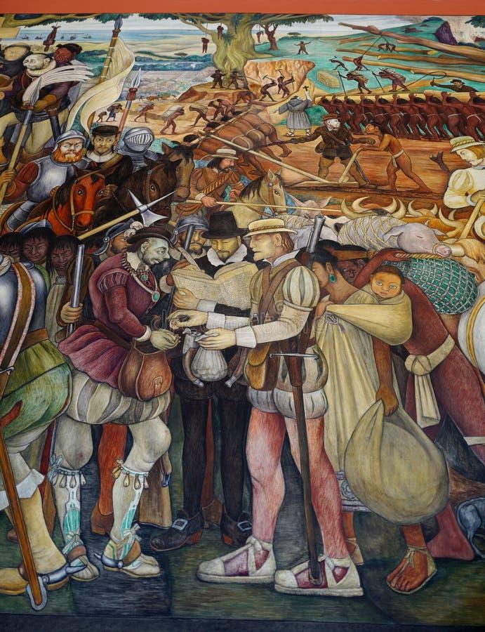 Malowidło ścienne Diego Rivera, Meksyk ilustracji