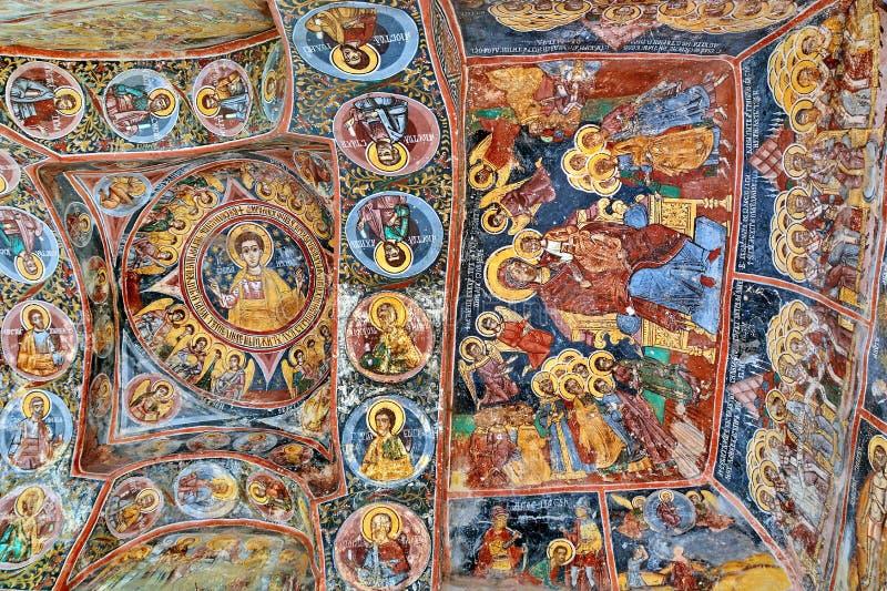 Malowidło ścienne fresk w Rumunia zdjęcie royalty free