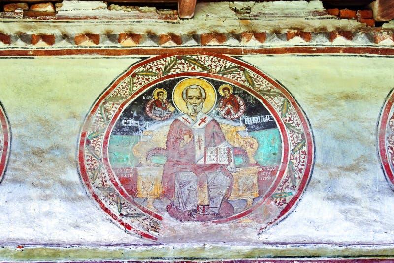Malowidło ścienne fresk w Rumunia zdjęcia stock