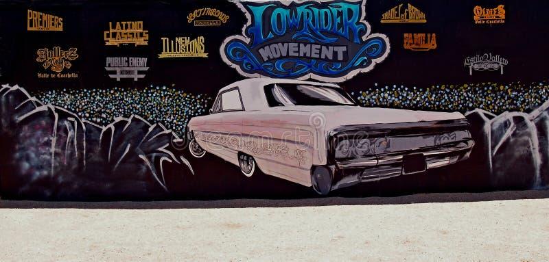 Malowidło ścienne Przedstawia jeźdza samochodu & ruchu kluby fotografia royalty free