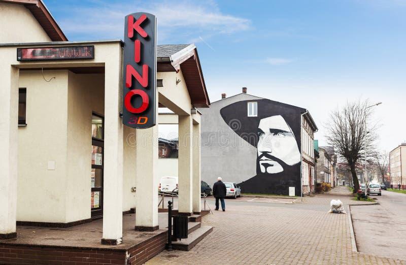 Malowidło ścienne przedstawia sławnego połysku piosenkarza Czeslaw Niemen fotografia stock