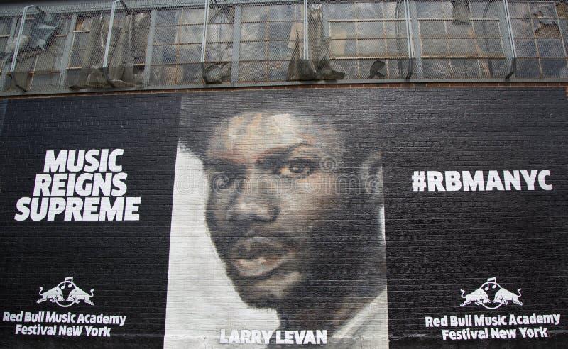 Malowidło ścienne przy Wschodnim Williamsburg sąsiedztwem w Brooklyn zdjęcia stock