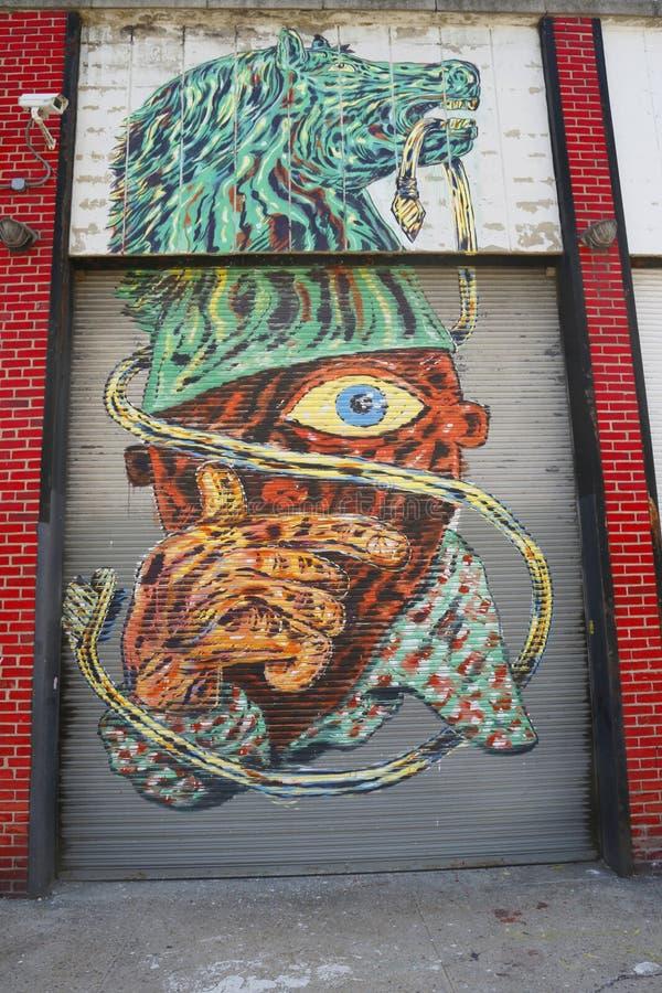 Malowidło ścienne przy Wschodnim Williamsburg w Brooklyn obraz royalty free