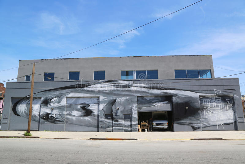 Malowidło ścienne przy Wschodnim Williamsburg w Brooklyn zdjęcie royalty free