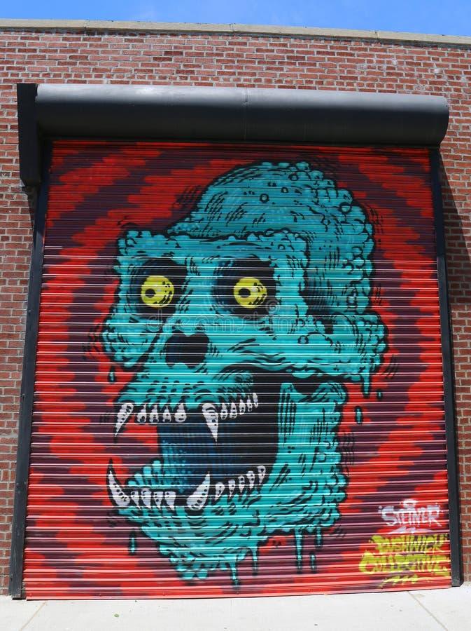 Malowidło ścienne przy Wschodnim Williamsburg w Brooklyn fotografia royalty free