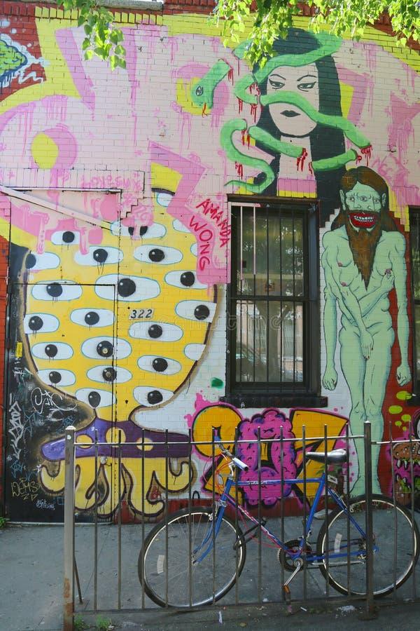 Malowidło ścienne przy Wschodnim Williamsburg w Brooklyn zdjęcia stock
