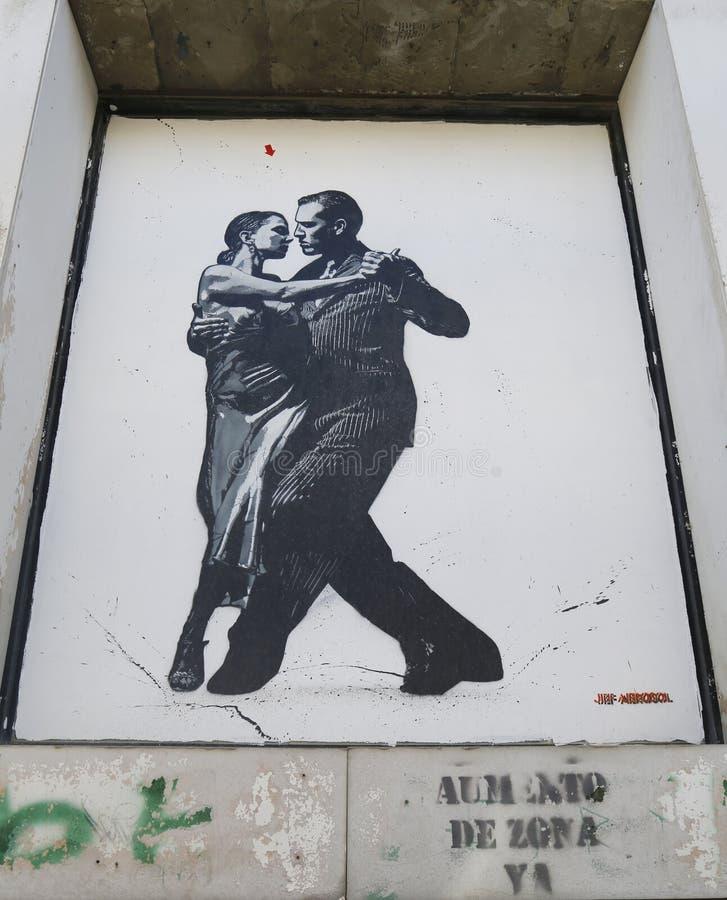 Malowidło ścienne sztuka Jef aerosolem w Ushuaia, Argentyna zdjęcia royalty free
