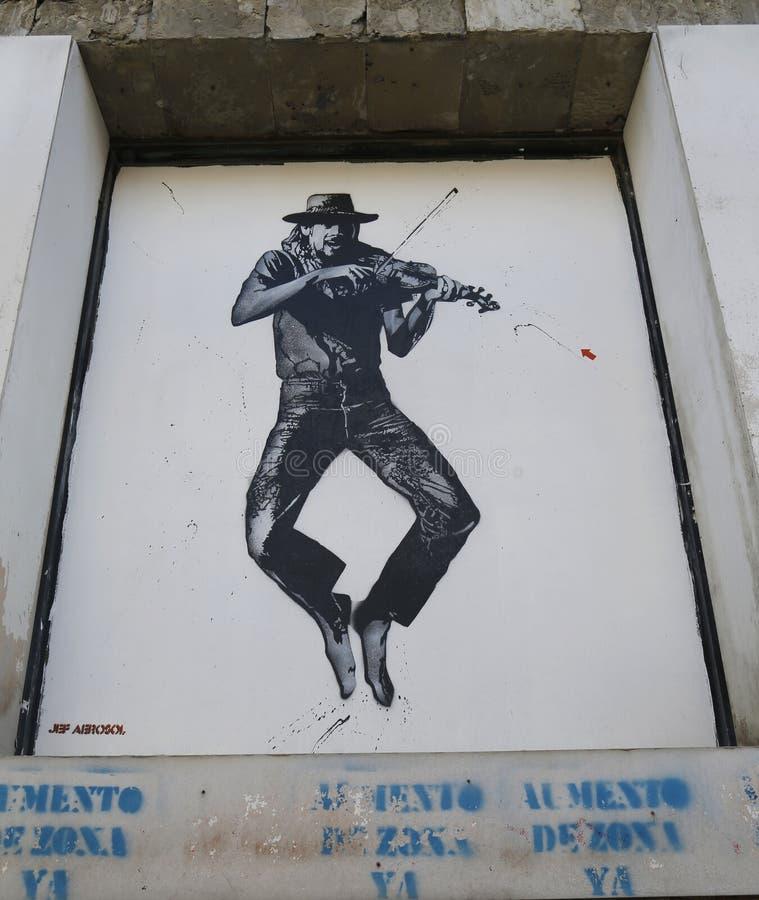 Malowidło ścienne sztuka Jef aerosolem w Ushuaia, Argentyna obraz royalty free