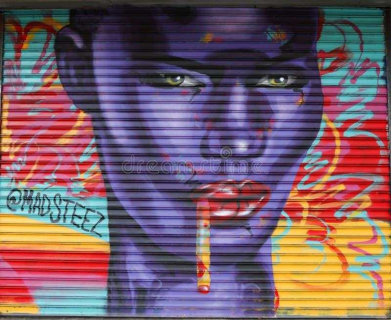 Malowidło ścienne sztuka przy Bowery w Manhattan zdjęcie stock
