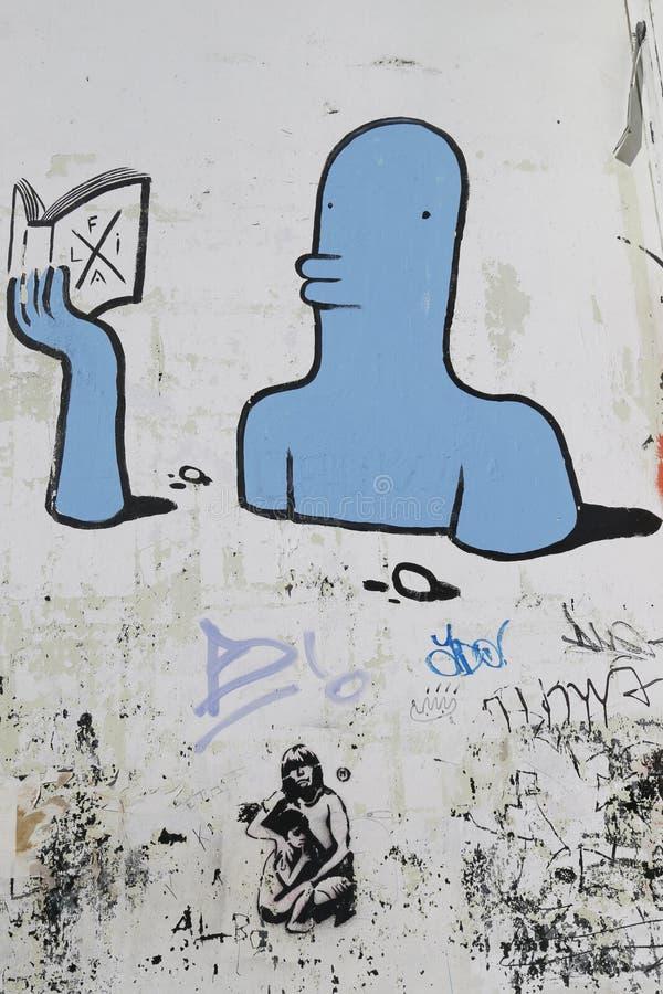 Malowidło ścienne sztuka w Ushuaia, Argentyna zdjęcie stock