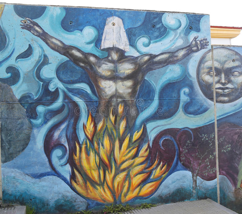 Malowidło ścienne sztuka w Ushuaia, Argentyna obraz stock