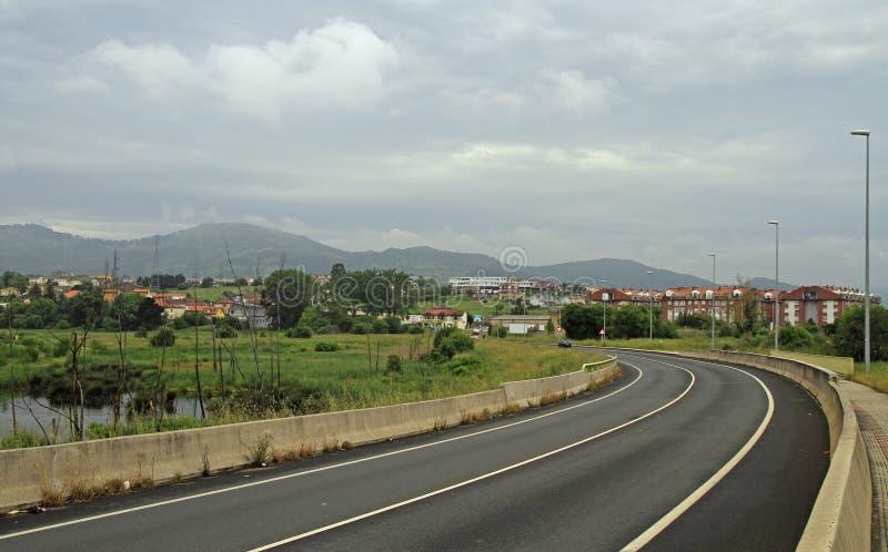 Malownicza droga w hiszpańskim regionie Cantabria obraz stock