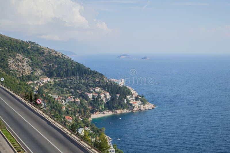 Malownicza Nabrzeżna droga z widokiem na Dubrovnik, Chorwacja fotografia royalty free