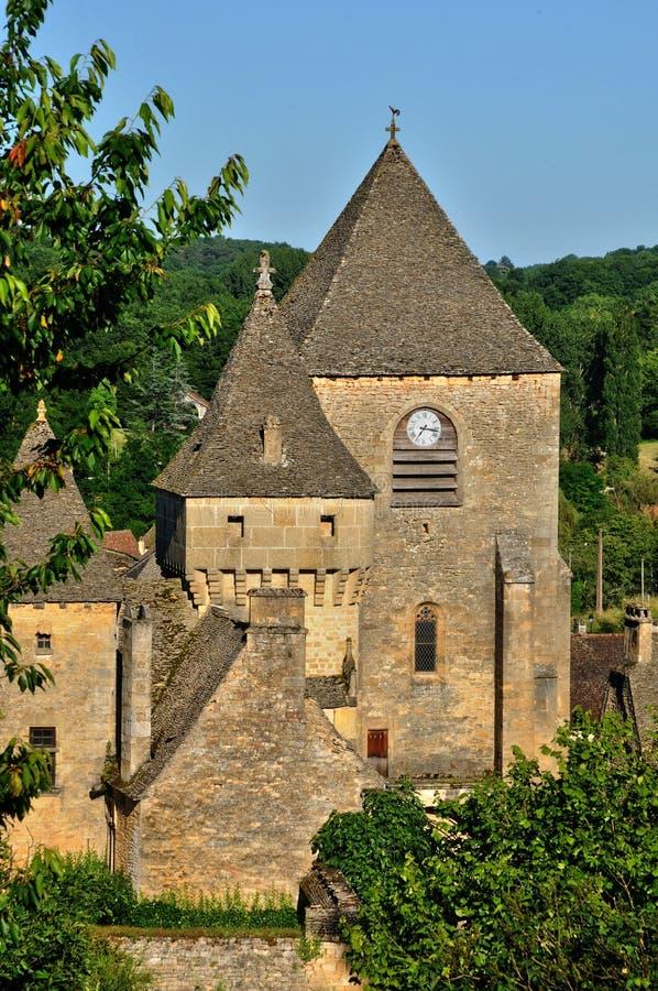 Malownicza wioska Świątobliwi Genies obrazy royalty free