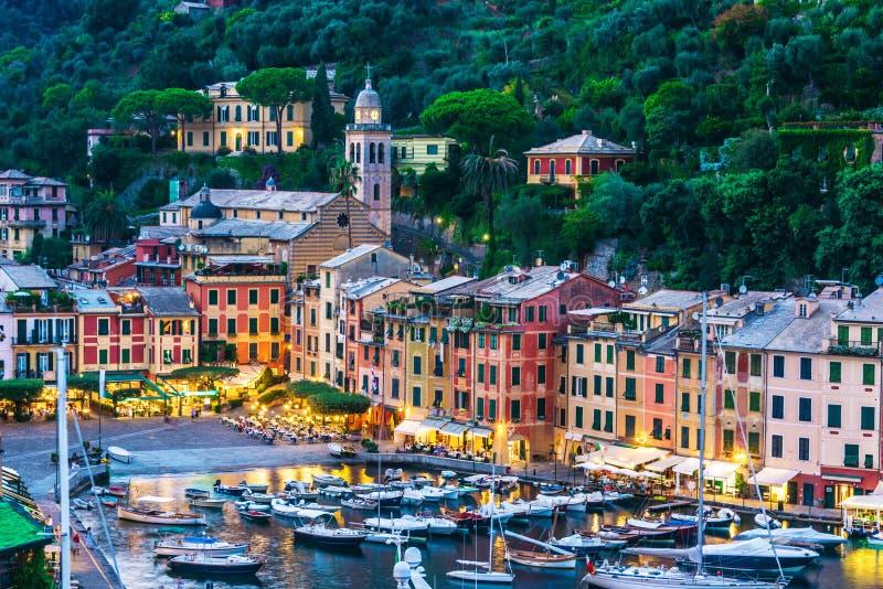 Malownicza wioska rybacka Portofino, Liguria, Włochy obraz stock