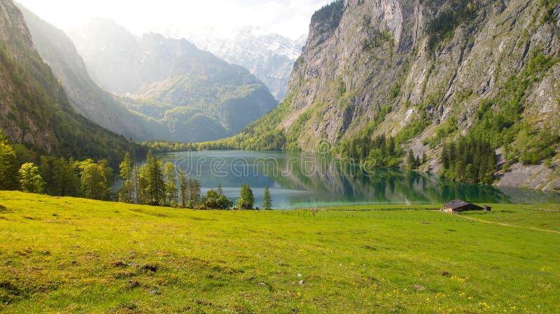 Malownicza wysokogórska buda blisko Koenigssee w Bavaria, Niemcy zdjęcia royalty free