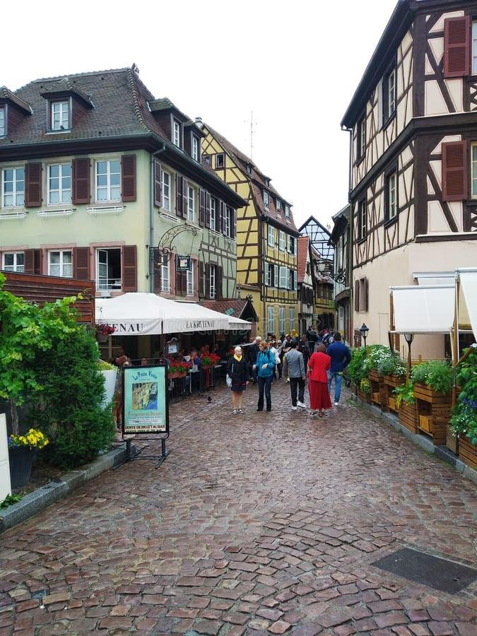 Malownicze aleje Colmar, Alsace, Francja obrazy stock