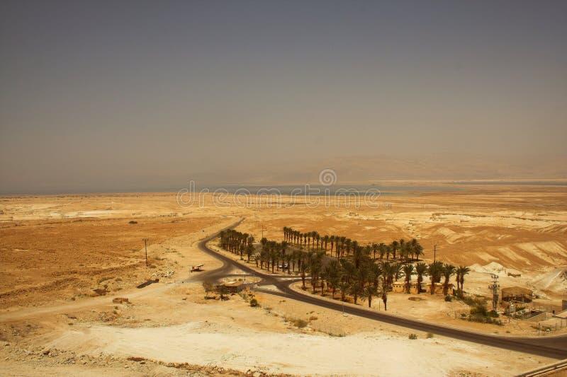 Malownicze antyczne góry o Nieżywym morzu w Izrael obrazy stock
