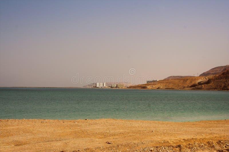 Malownicze antyczne góry o Nieżywym morzu w Izrael obrazy royalty free